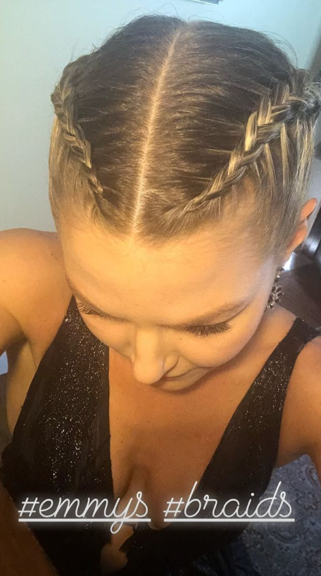 The *Once Upon A Time* star working her braids.