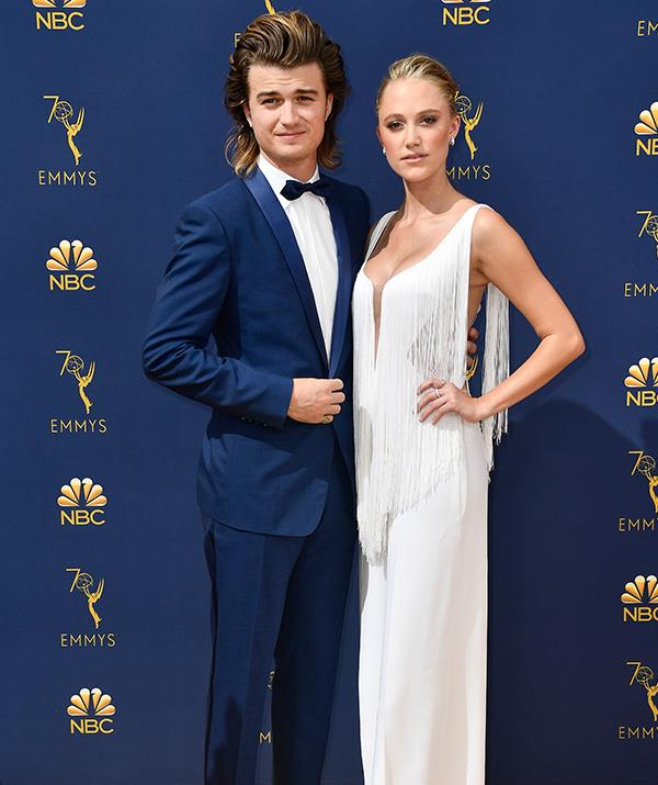Joe Keery of *Stranger Things* and girlfriend and actress Maika Monroe make quite the couple!
