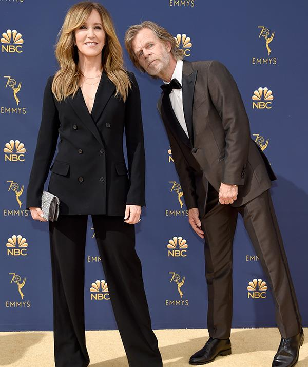 One of Hollywood's favourite couples Felicity Huffman and William H Macy are matching in powersuits!