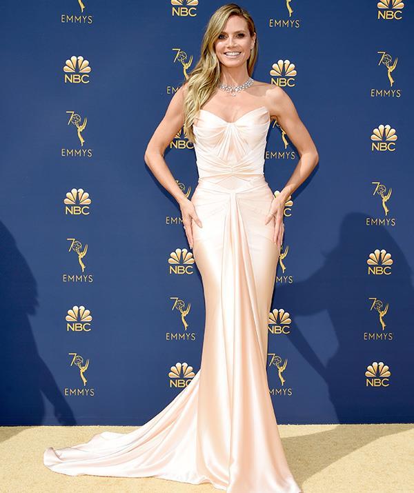 Supermodel Heidi Klum looks every bit as stunning as we'd expect.
