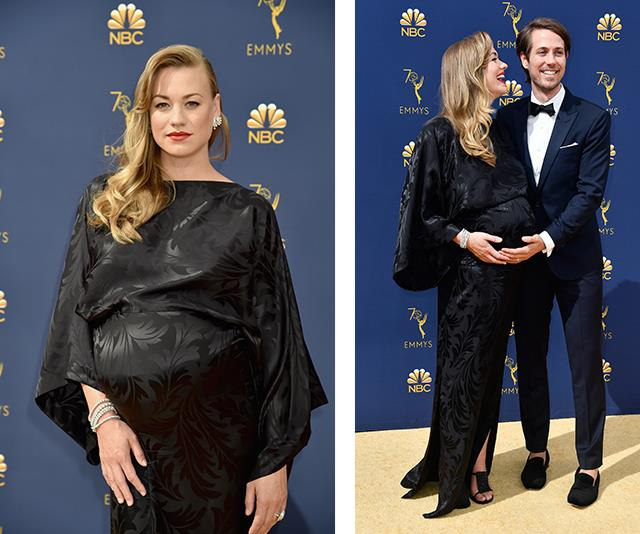 "Aussie actress and *Handsmaid's Tale* star Yvonne Strahovksi accidentally just revealed she is having a baby boy while walking the Emmys red carpet! Read the lowdown [here](https://www.nowtolove.com.au/women-of-the-future/the-weekly/yvonne-strahovski-baby-gender-reveal-emmys-51256|target=""_blank"")."