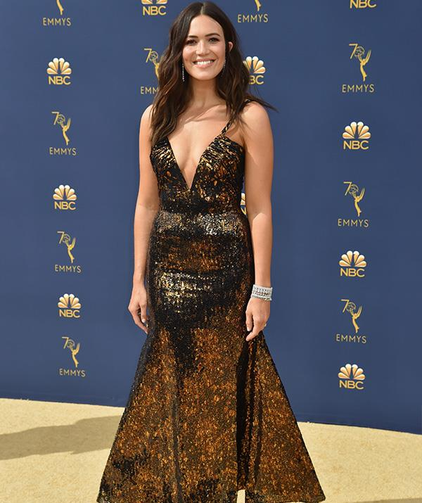 American singer-songwriter and actress Mandy Moore could be in the running for best dressed in this gorgeous gown!