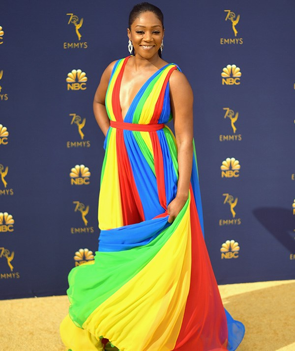 Tiffany Haddish has gone all out wearing the colours of the rainbow, and we're on board!