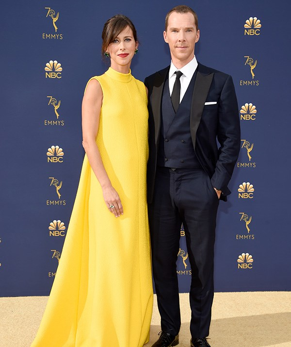 Benedict Cumberbatch and wife Sophie Hunter look calm and collected as they hit the red carpet together. We're loving Sophie's pop of colour!