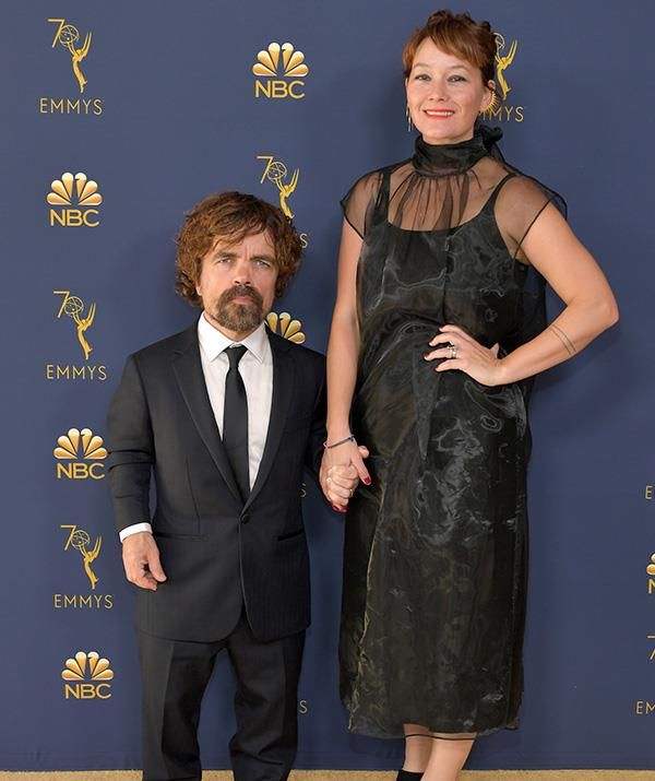 *Game of Thrones* star Peter Dinklage and wife Erica Schmidt are matchy-matchy in black.