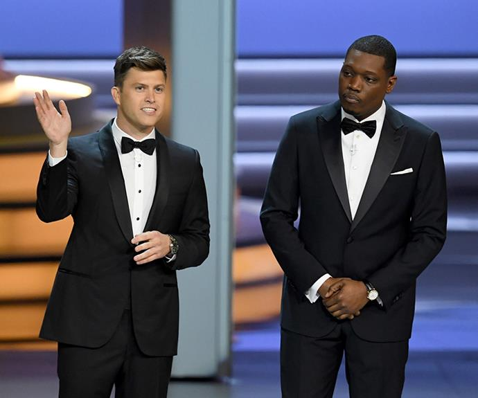 Your hosts with the most, Colin Jost and Michael Che.