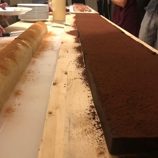 "The food was clearly impressive. Matt Preston shared this image to his Instagram account along with the caption: ""The worlds longest chocolate and hazelnut tart, (with the world's longest fig tart in the background) by Greece's supreme pastry chef, @steliosparliaros . So good!"" *Image: Instagram / [@mattscravat](https://www.instagram.com/p/Bnyl1ZdCv9v/?taken-by=mattscravat