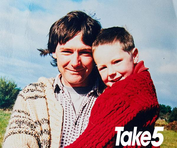 Me with Dad - he could never talk about what happened.