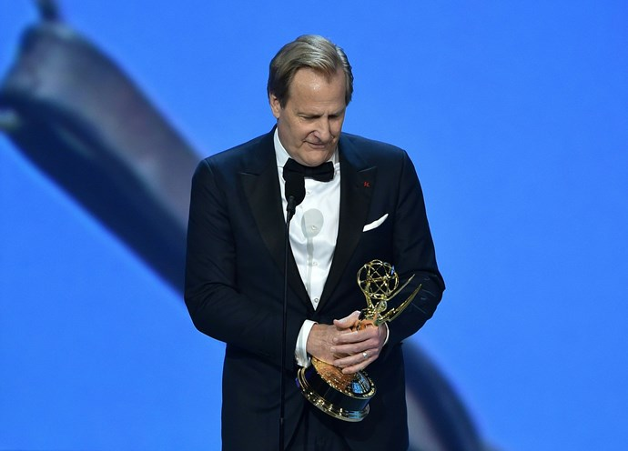 Jeff Daniels accepted the Outstanding Lead Actor in a Limited Series or Movie award for *Godless*.