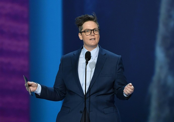 Aussie comedian Hannah Gadsby presented onstage - she definitely didn't fail in drawing plenty of laughs from the crowd.