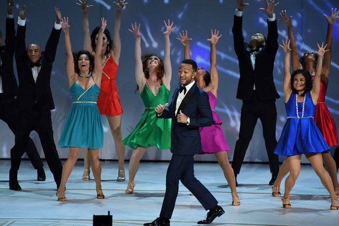 It wouldn't be an awards ceremony without someone breaking into song and dance. John Legend nailed it.