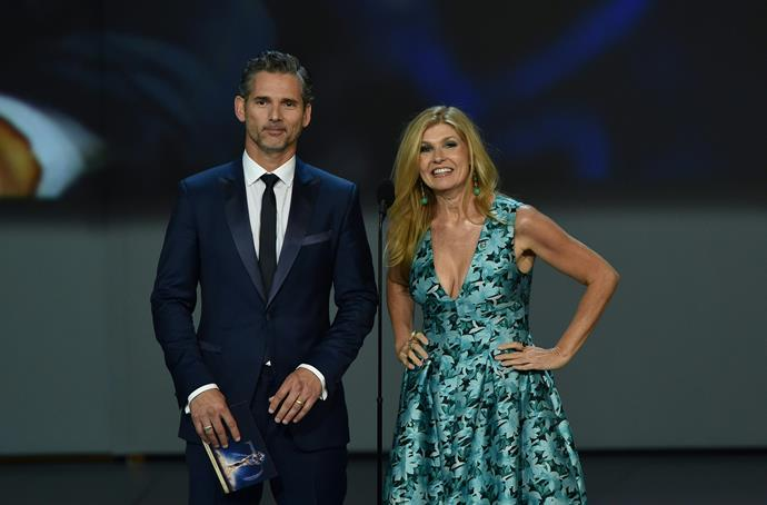Eric Bana and Connie Britton present onstage together, and they look darn good doing it.