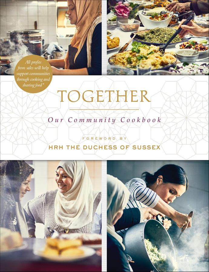 Markle has thrown her support behind a new charity cookbook called *Together* Image: Twitter / @KensingtonRoyal