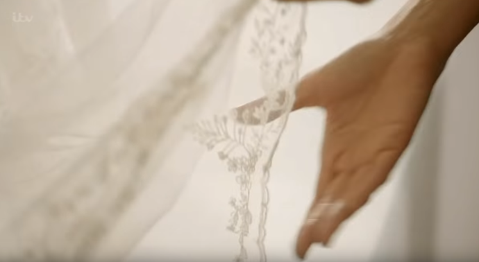 The stunning details incorporated into the dress will be revealed in the ITV series.