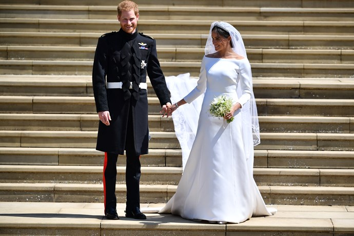 Meghan's wedding dress caught international attention in May.