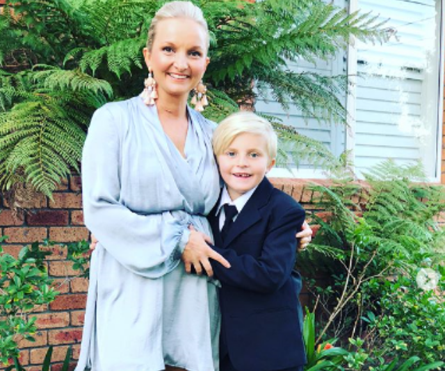 Tracey Corbin-Matchett with son, Zahn at the premiere of his film, *Chasing Comets.*