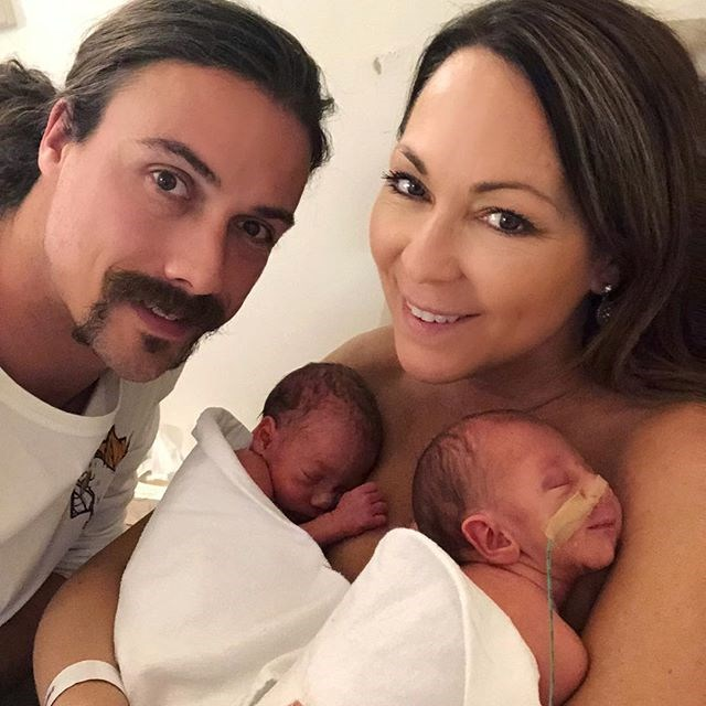 """Tania and her partner Chris Rogers were over the moon to share their newborn twins with the world. *Image: Instagram / [@taniazaetta](https://www.instagram.com/p/BnfrrljA1b2/?taken-by=taniazaetta