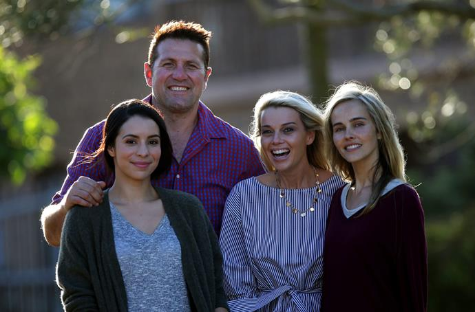 Kat, Jason, his wife Rebecca, and Isabel Lucas.