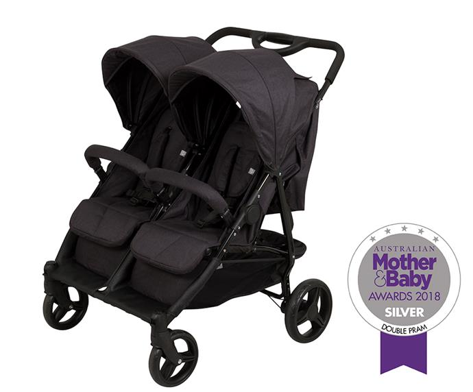 """[Apari Twin Stroller,](https://cnpbrands.com.au/product/019112-384 target=""""_blank"""" rel=""""nofollow"""") from $499.99, features a flat-folding compact design, 5 point harness and 4 wheel suspension to make getting out and about with little ones a breeze."""