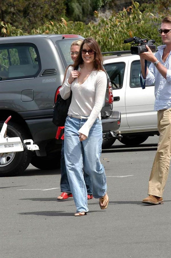 **January 2003, Hobart** <br><br> She might not be a royal Queen, but Mary was definitely queen of early naughties style. Exhibit A: This baggy jeans and sandals get-up.