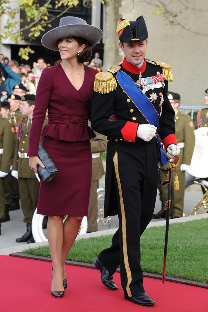 **October 2012, Luxembourg** <br><br> This hat and dress combo ticks all the boxes.