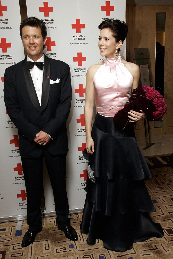 **March 2005, Sydney** <br><br> It's pink and black, it's satin, it's floor-length and it's utterly chic.