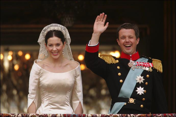 **May 2004, Copenhagen** <br><br> The Aussie-born princess marries her real-life Prince Charming and the whole world swooned.