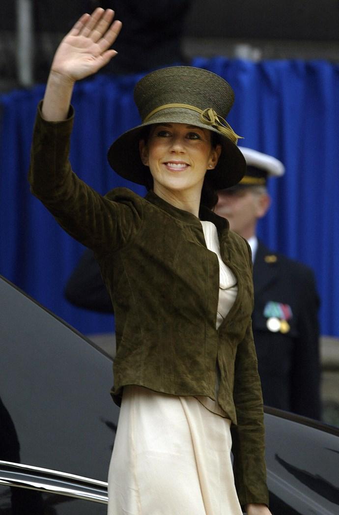 **May 2004, Copenhagen** <br><br> Jacket? Tick. Dress? Tick. Hat? Tick!