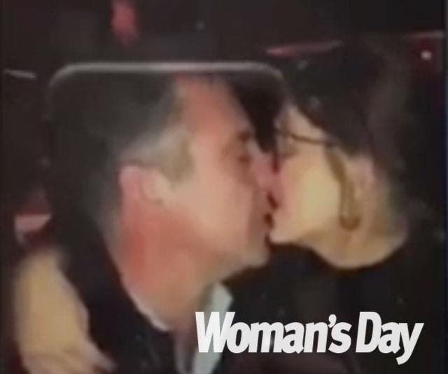 An unkempt Andrew was snapped kissing a young woman at a Hobart nightclub.