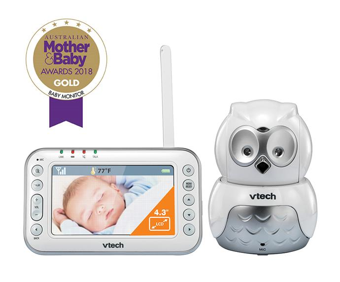 """**The V TECH BM4500-[OWL Safe & Sound Pan & Tilt Video Monitor](https://www.babybunting.com.au/vtech-monitor-video-bm4500-owl-white-silver.html