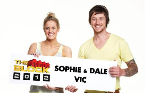 """Sophie and Dale were contestants on the 2012 season of """"The Block"""""""