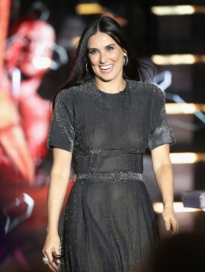 **Demi Moore, 55** <br><br> This American actress continues to glow, and her style is bang on.
