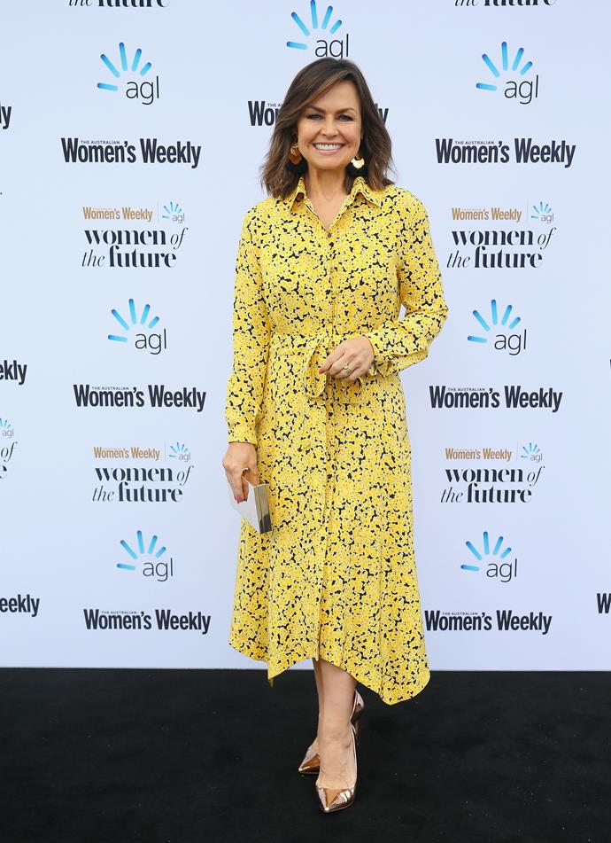 "**Lisa Wilkinson, 59** <br><br> TV presenter and journalist Lisa [is an inspiration](https://www.nowtolove.com.au/women-of-the-future/the-weekly/lisa-wilkinson-georgie-gardner-women-of-the-future-51028|target=""_blank"") to women in Australia, and the world over!"