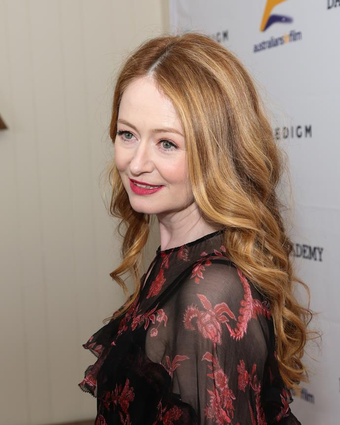 **Miranda Otto, 51** <br><br> Like Nicole, this Aussie redhead's youthful beauty seems eternal.