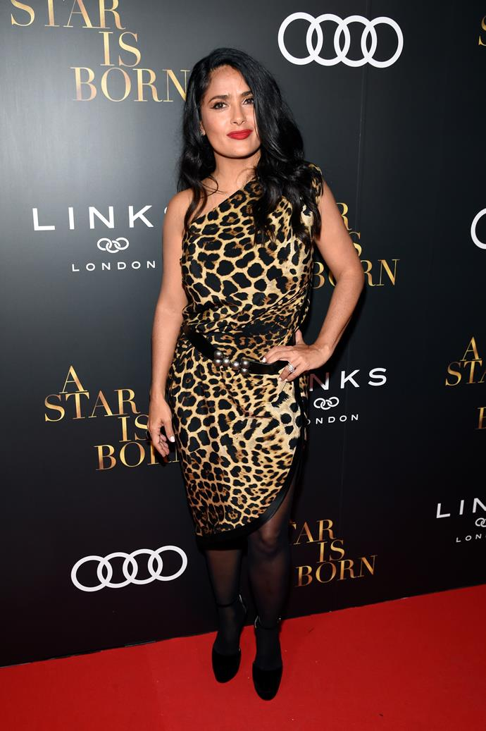 **Salma Hayek, 53** <br><br> At 25 she was rocking it. At 53? Still rocking it.