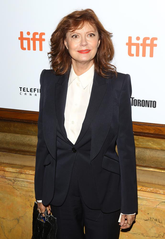 **Susan Sarandon, 72** <br><br> A talented actress and women's rights activist - Susan is a force to be reckoned with!