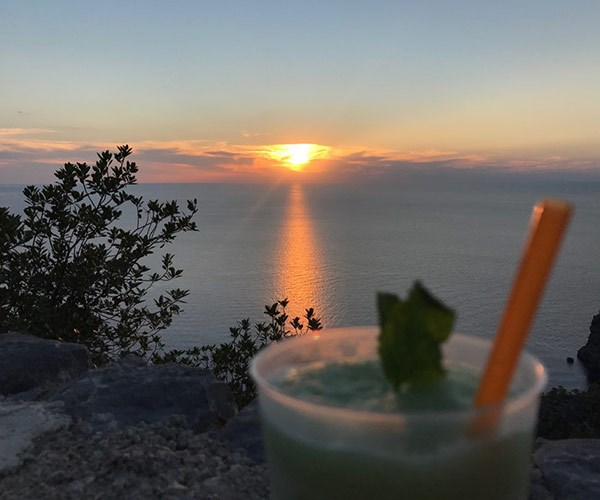 Spanish sunsets are best enjoyed with your beverage of choice.