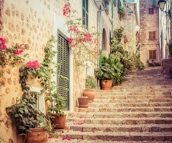 Bougainvillea and beautiful back-streets, welcome to Fornalutx.