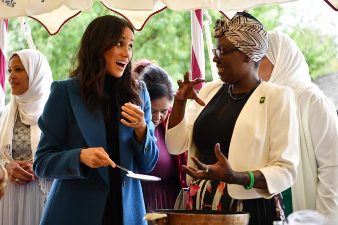 Meghan shared some sweet moments with guests at the charity cookbook launch.