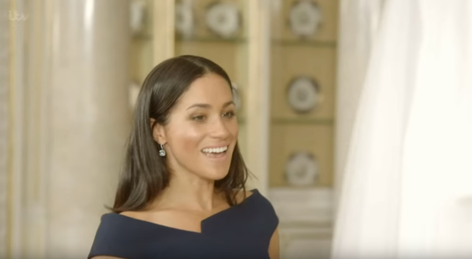 The newlywed's reaction to seeing her wedding dress is heartwarming.