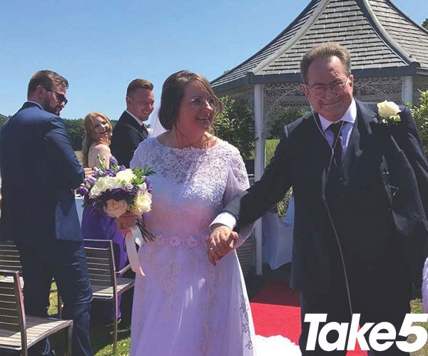 On our beautiful wedding day - we were so happy!  **Pictures exclusive to Take 5**