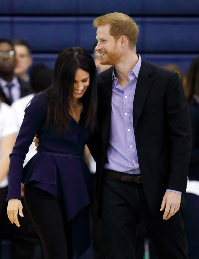 The royal couple were all smiles for the event.