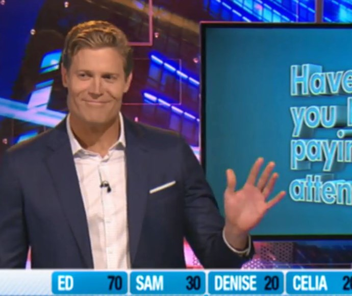 Dr Chris Brown waves off talks about being the next Bachelor on Network Ten's *Have You Been Paying Attention*.