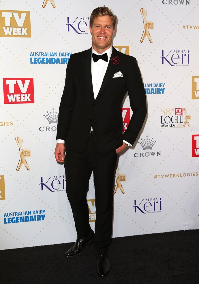 Dr Chris Brown on the red carpet at the *TV Week Logie Awards*.