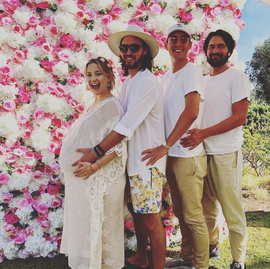 Kate accompanied by partner Danny Fujikawa and his two brothers, Brady and Michael.