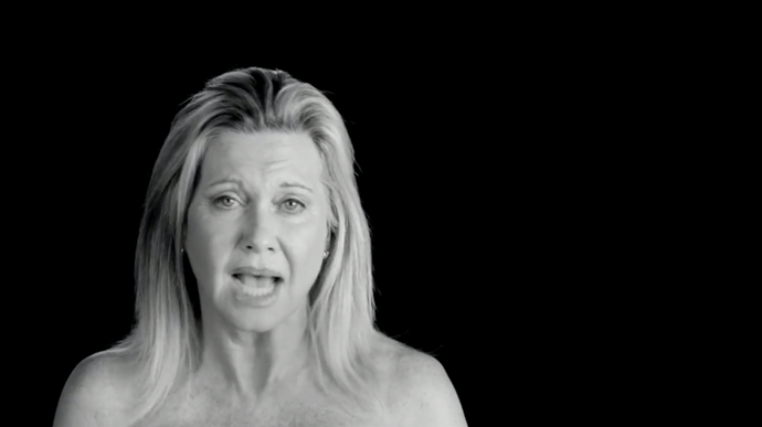Olivia Newton John has also featured in the 'I Touch Myself' campaign.
