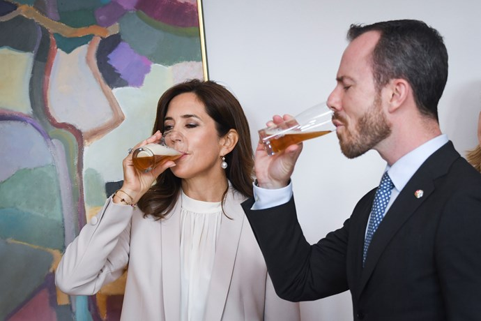 The former Tassie local can appreciate a good brew. Earlier this month, she joined Minister for Environment and Food Jakob Elleman-Jensen of Denmark in tasting beer at the New Nordic Food event in Helsinki.