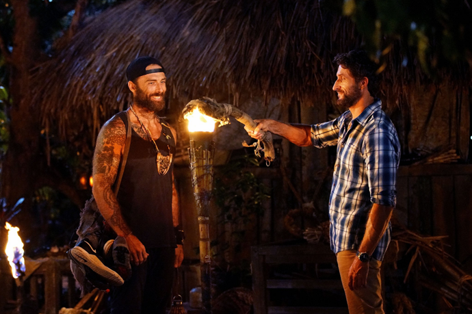 Jonathan Lapaglia snuffs The Commando's torch at tribal council.