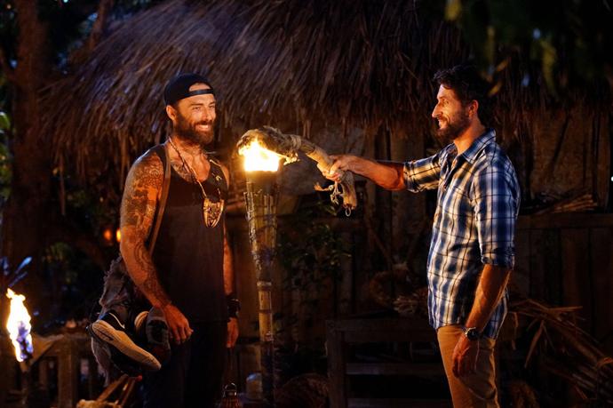 Jonathan Lapaglia snuffs The Commando's torch at tribal council.