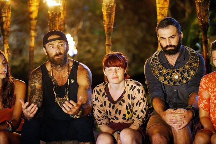 Steve and Brian shared a tense moment at his final tribal council.